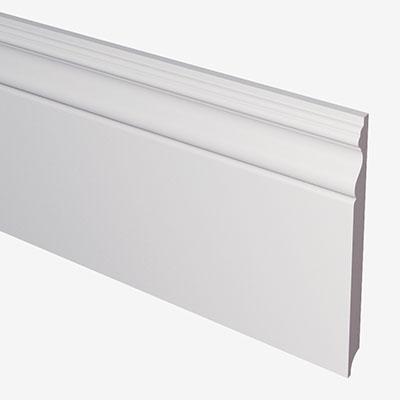 Плинтус белый высокий pn200