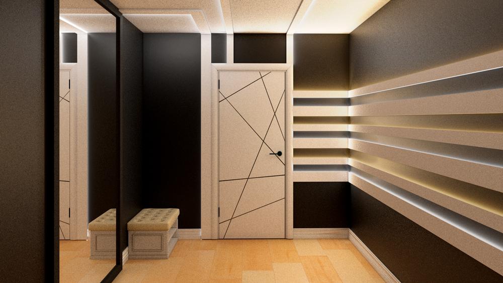Ночное освещение коридора. Молдинги или плинтусы с подсветкой от Evrowood.ru