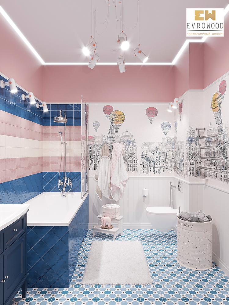 Интерьер-детской-ванной-комнаты-с-использованием-плинтуса,-модинга-и-стеновой-панели2